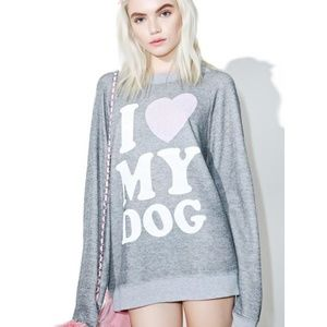 Wildfox I Love My Dog Sommer's Sweater